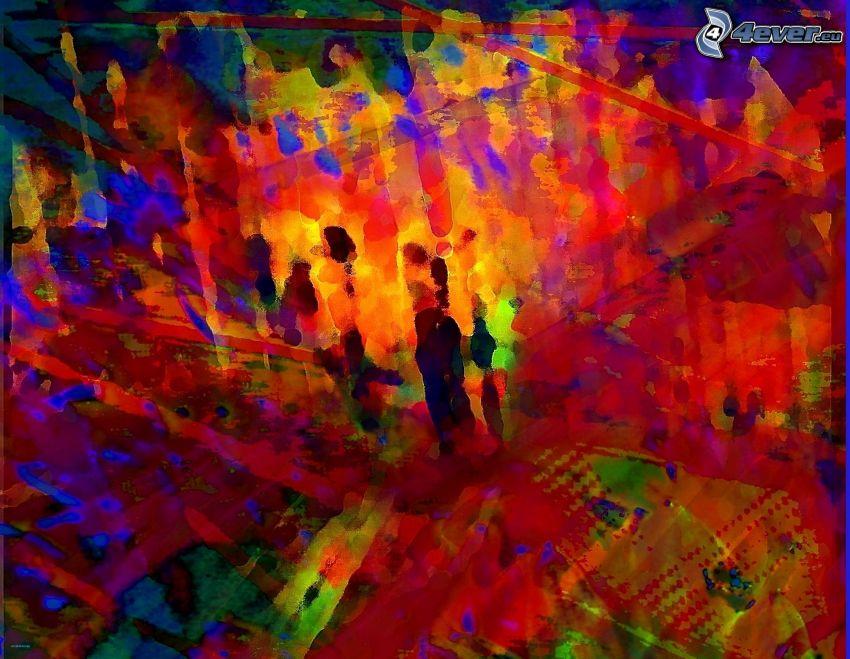 abstrakcyjne tło, kolorowe kleksy