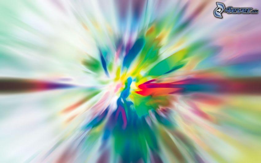 abstrakcyjne tło, kolorowy kleks