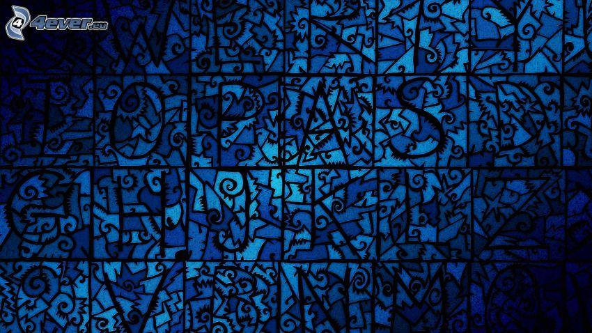 abstrakcyjne tło, niebieskie tło, kwadraty