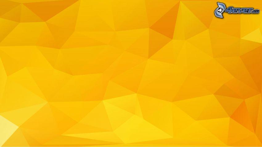 abstrakcyjne trójkąty, żółte tło