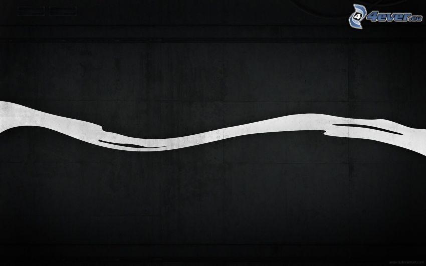 biały pas