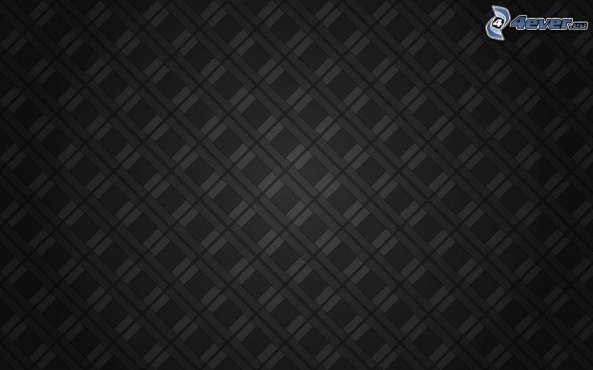 czarne tło, kwadraty