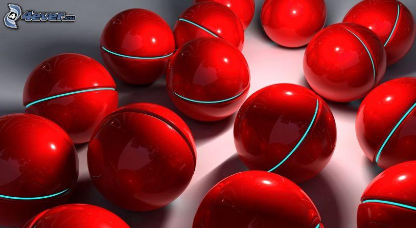 czerwone kulki