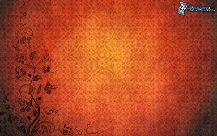 czerwone tło, cyfrowe kwiaty