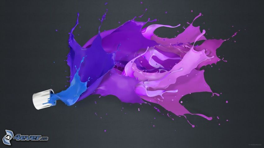 fioletowy kolor