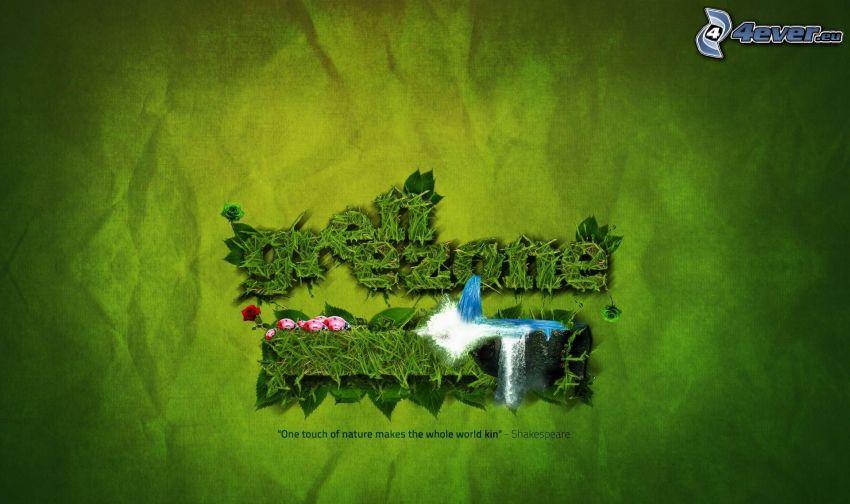 Green ezone, wodospad