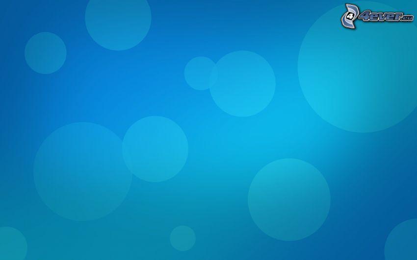 kółka, niebieskie tło