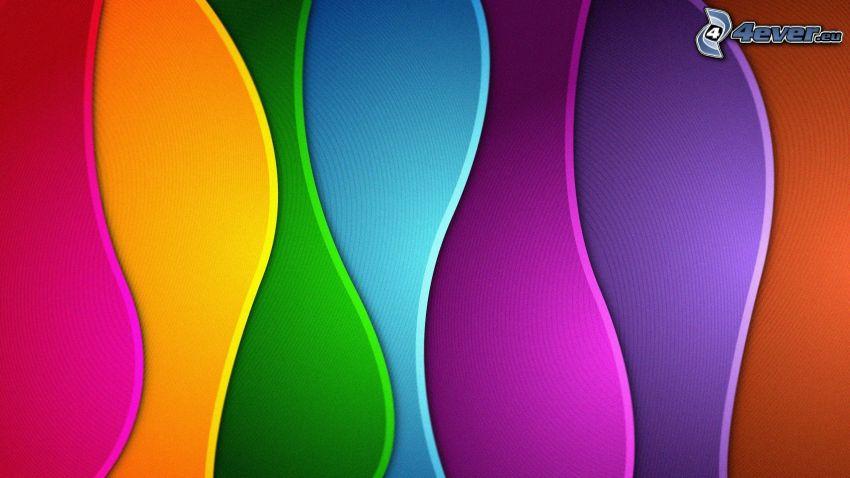 kolorowe fale, kolorowe tło