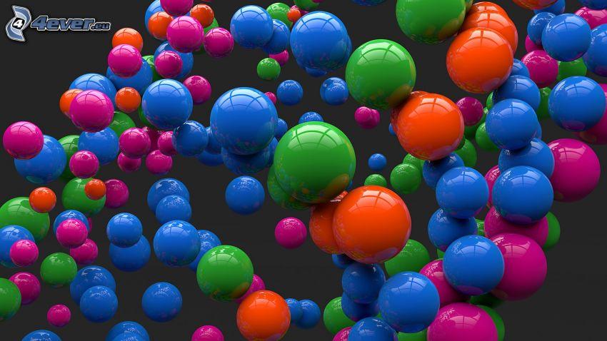 kolorowe kulki