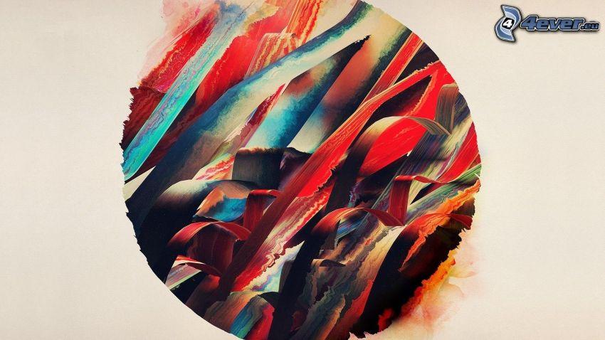 kolorowe paski, krąg