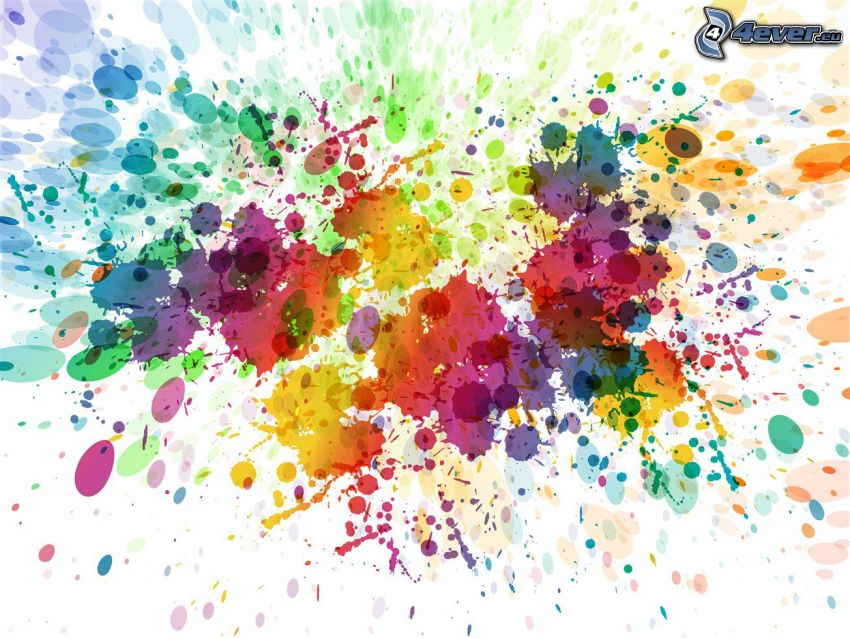kolorowe tło, kolorowe kleksy