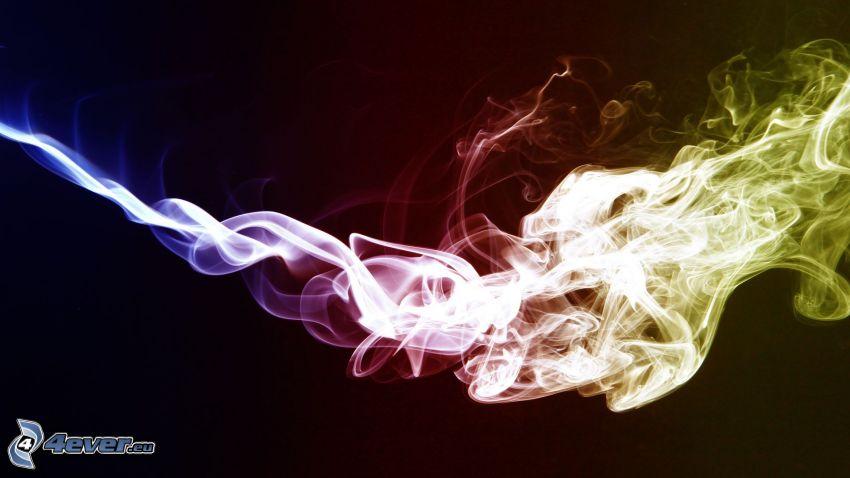 kolorowy dym