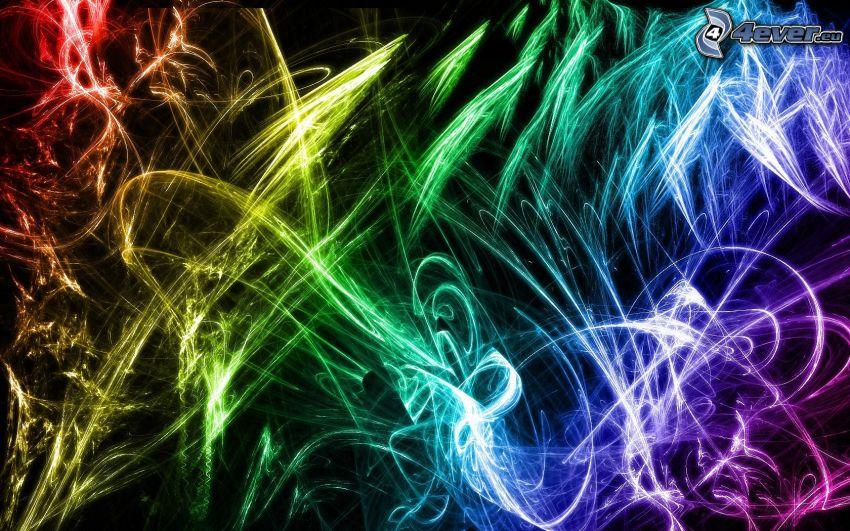 kolory tęczy, linie