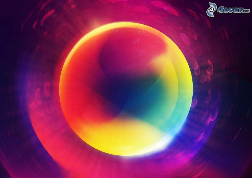krąg, kolorowe tło
