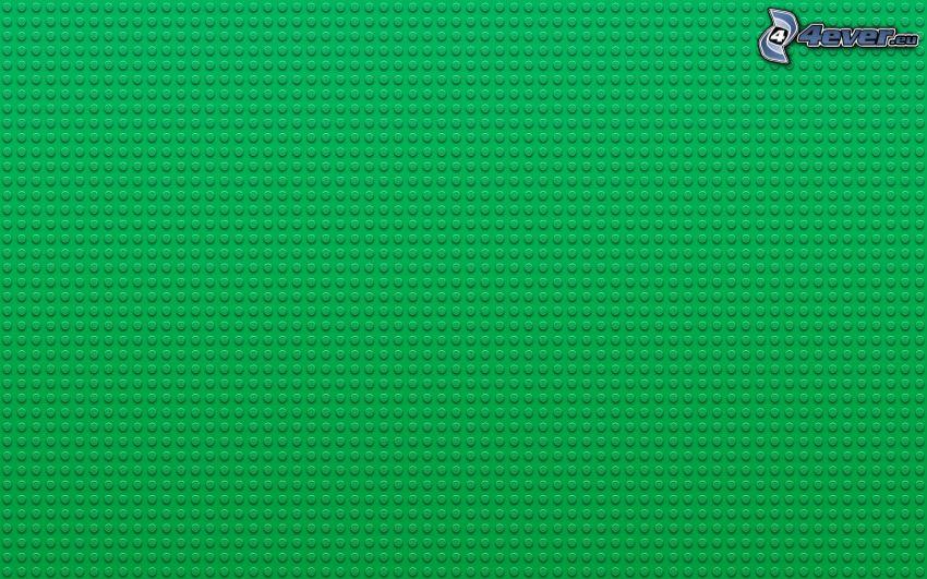 kuleczki, zielone tło, Lego