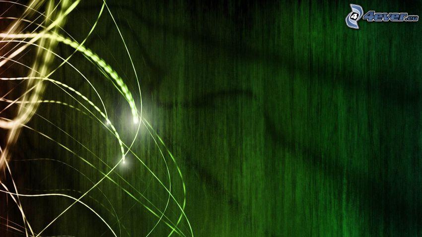 linie, zielone tło