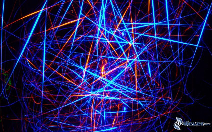 neon, zabawa światłem