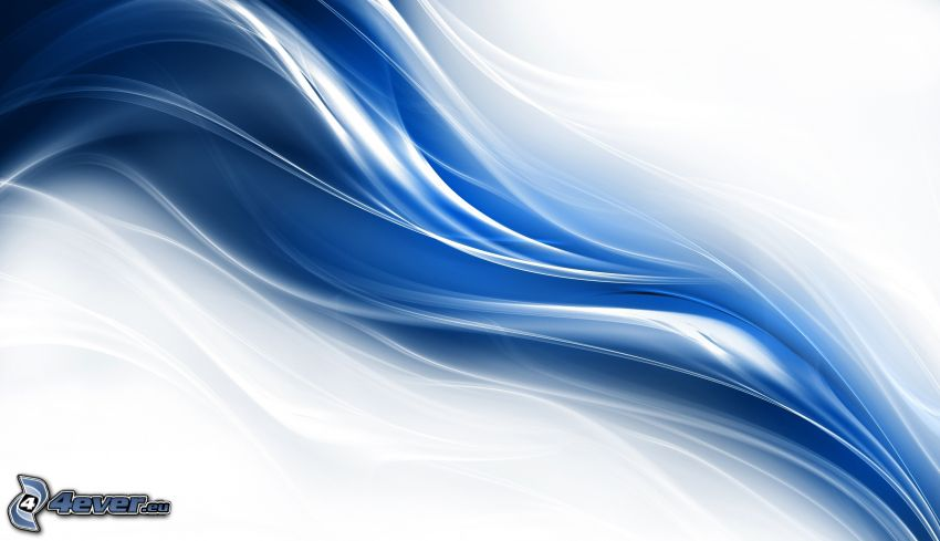 niebieskie abstrakcyjne, fale