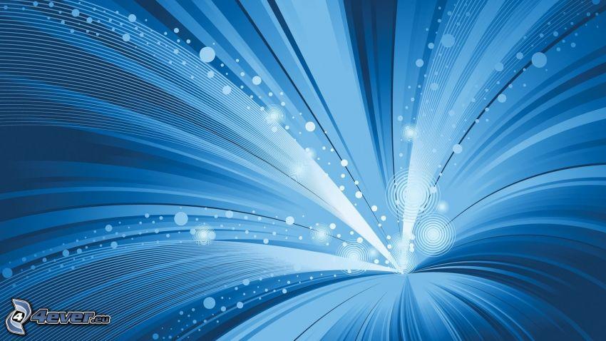 niebieskie paski, kółka, niebieskie tło