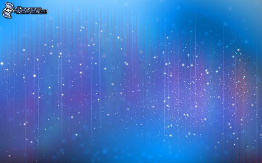 niebieskie tło, białe linie, kółka