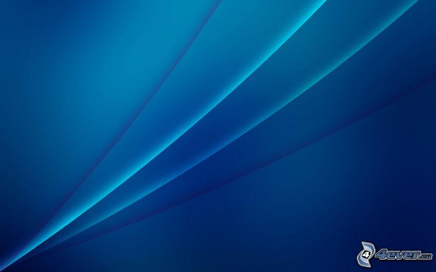 niebieskie tło, linie