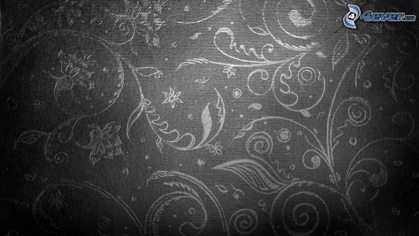 rysunkowe, kwiaty, tapeta