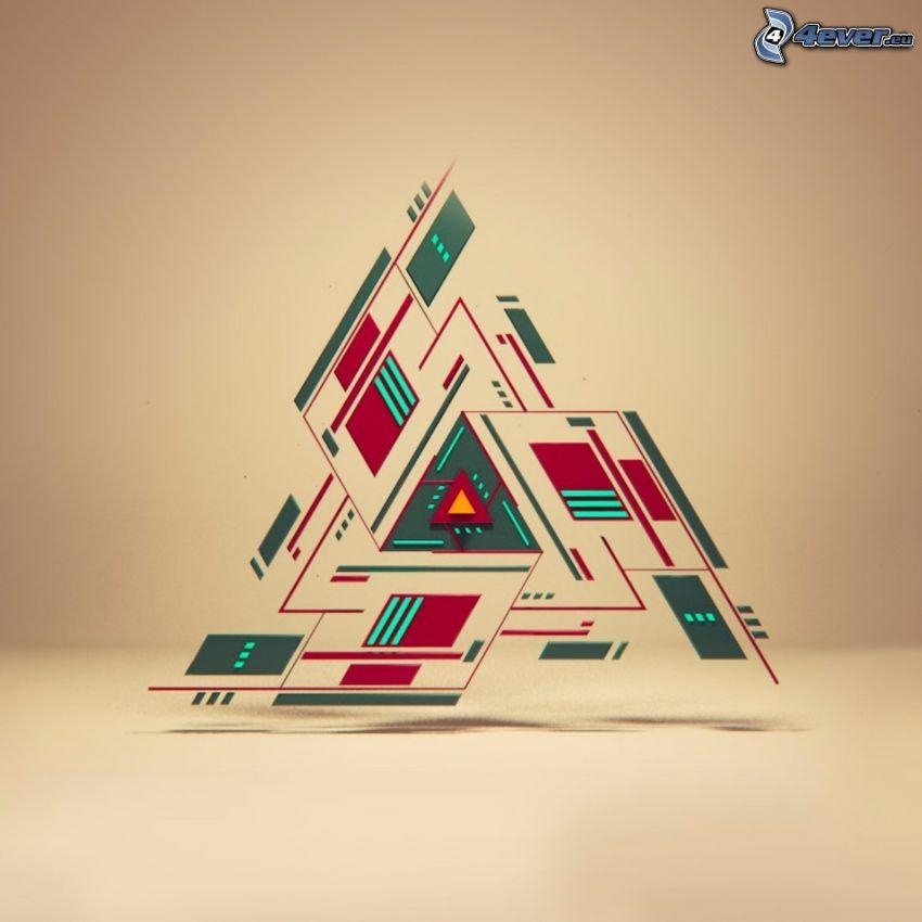 trójkąty, abstrakcyjne tło