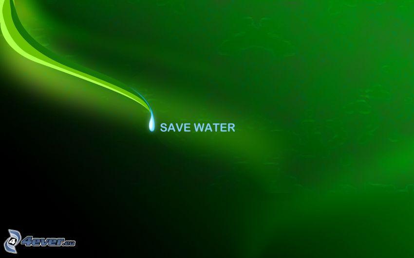 zielone tło, litery