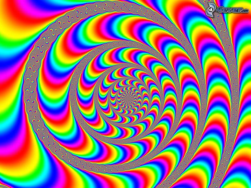 złudzenie optyczne, spirala