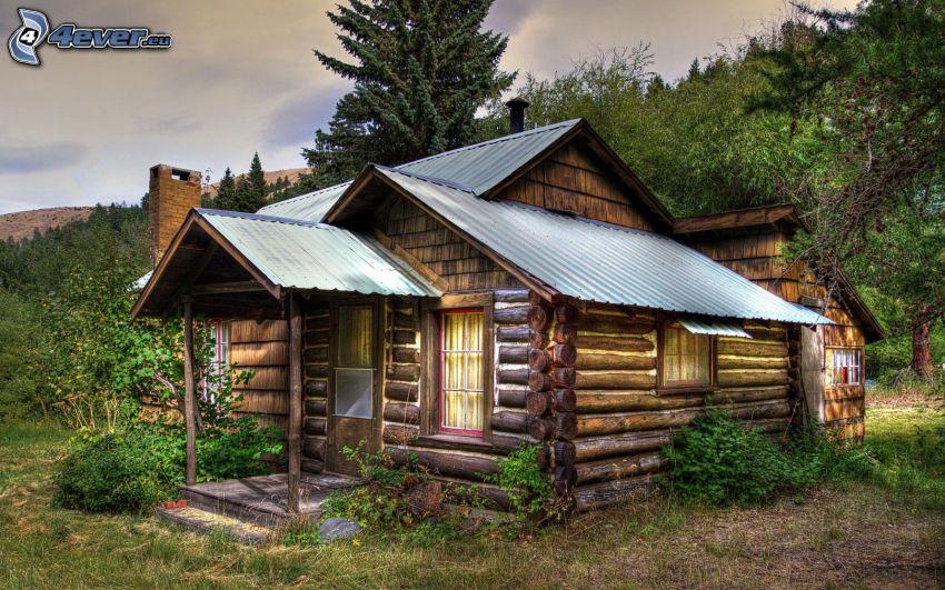 chata, przyroda, HDR