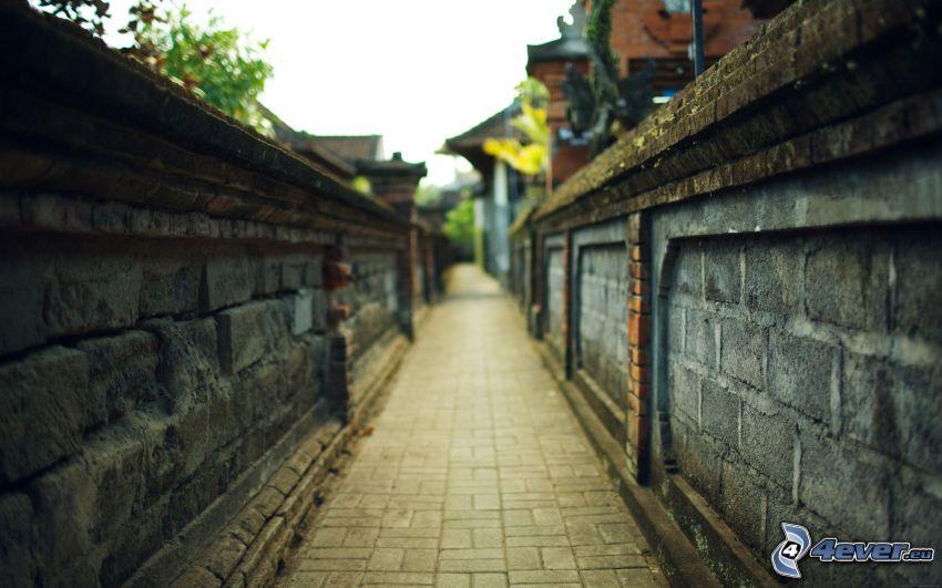 chodnik, mury