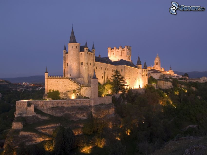 Alcázar of Segovia, wieczór