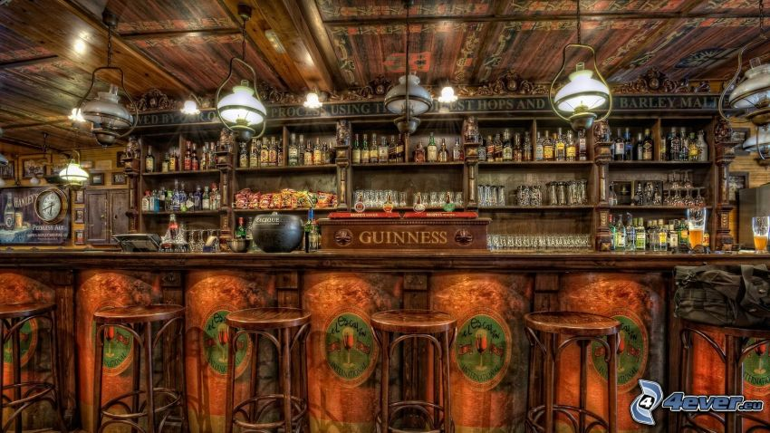 bar, Guinness, HDR