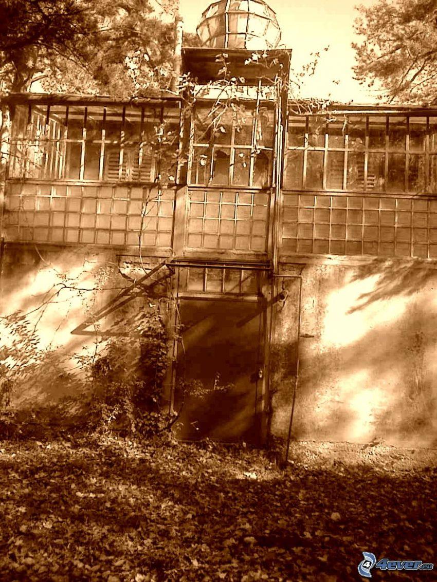 budowla, stare zdjęcie
