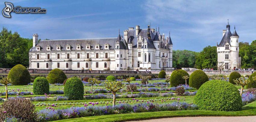 Château de Chenonceau, park, krzewy