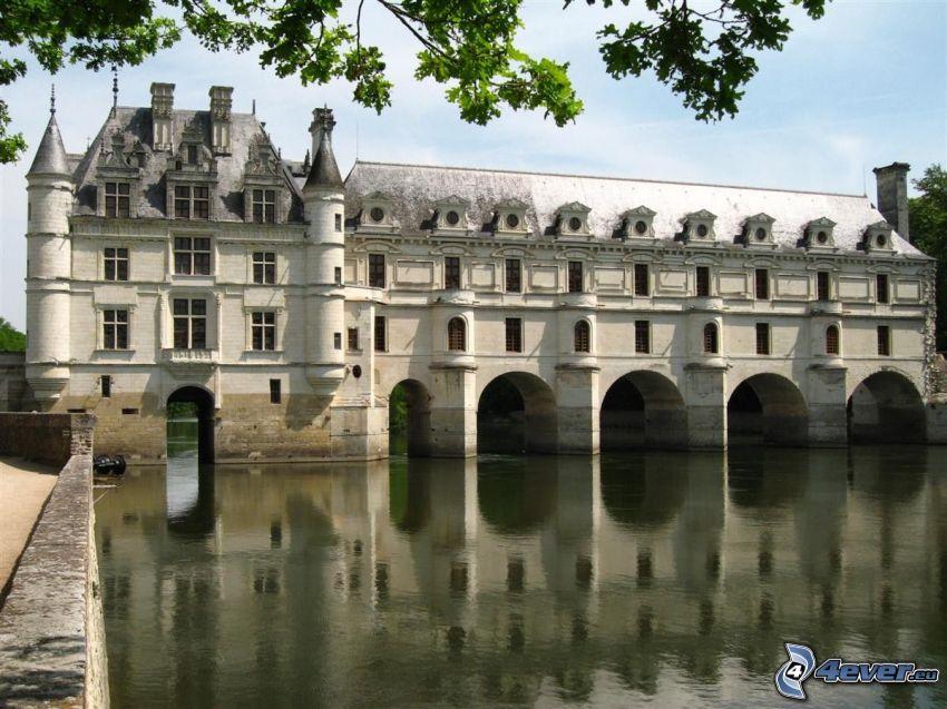 Château de Chenonceau, rzeka, odbicie