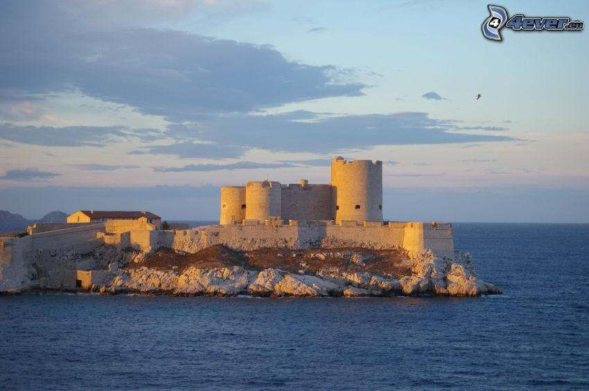 Château d'If, morze otwarte
