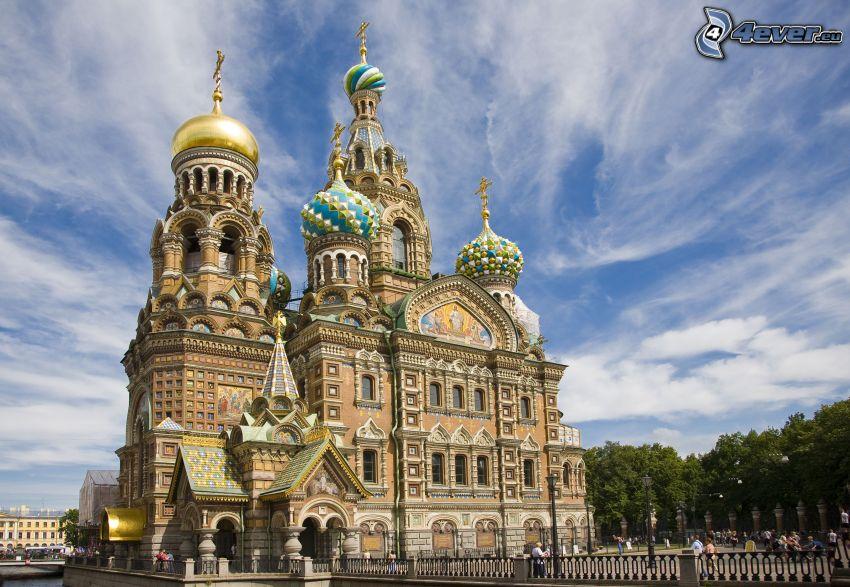 kościół, Petersburg, Rosja, HDR