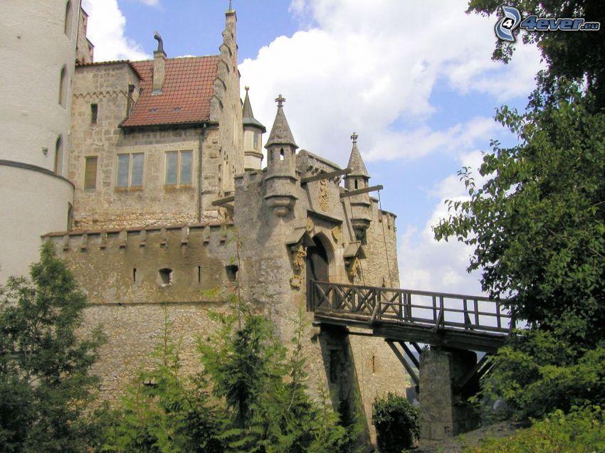Lichtenstein Castle, drewniany most