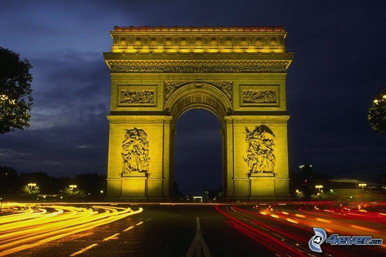 Łuk Triumfalny, Paryż, ulica