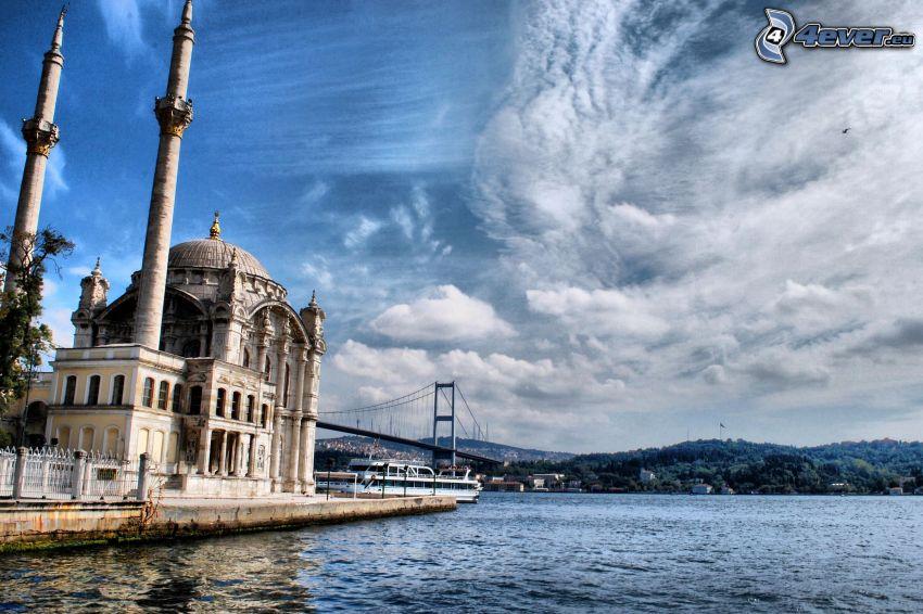 meczet, rzeka