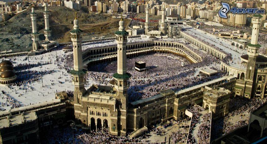 Mekka, świątynia, widok na miasto