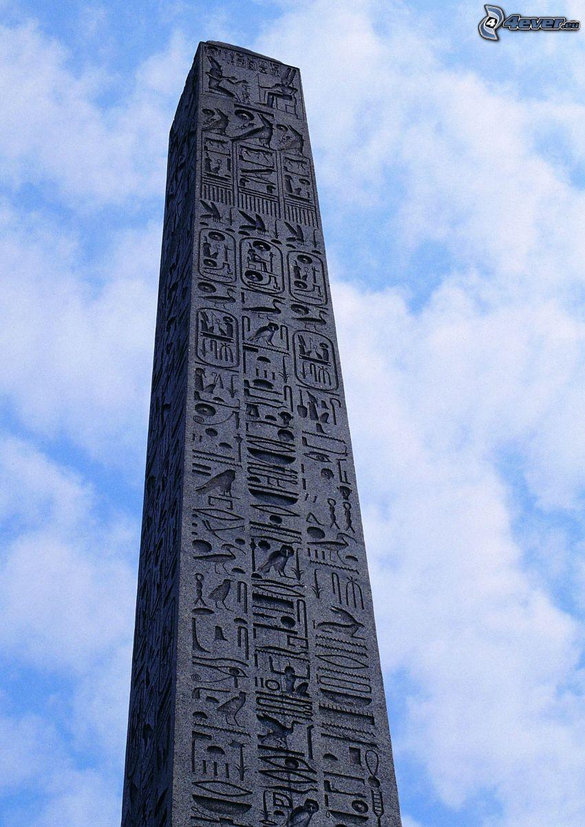 obelisk, słup