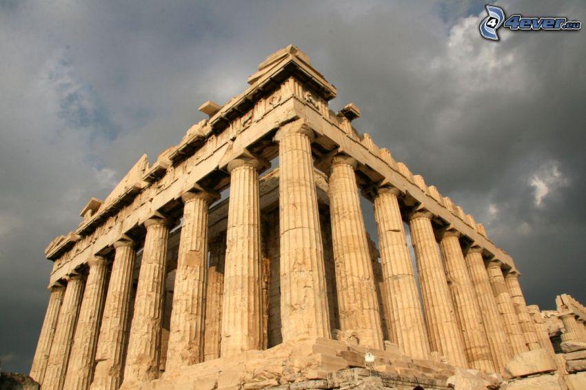 Partenon, Ateny, ciemne chmury