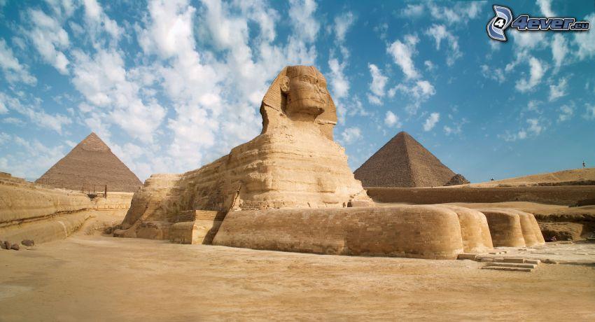 sfinks, piramidy