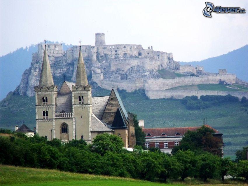 Spiski Zamek, Słowacja, kościół