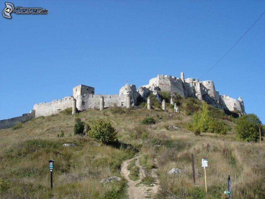 Spiski Zamek, Słowacja, wzgórze