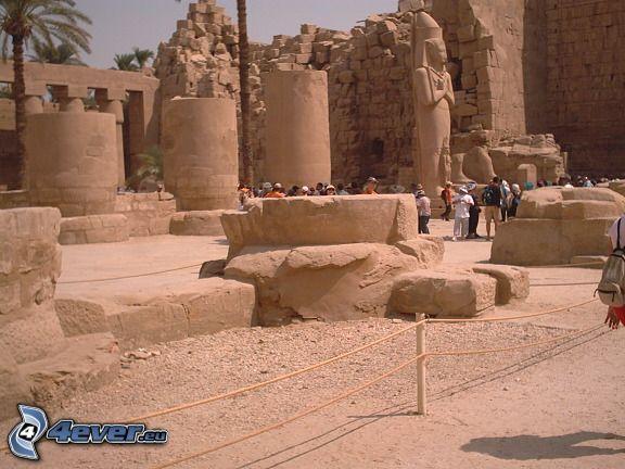 świątynia, Karnak, Luxor, Egipt, ruiny