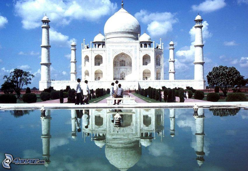 Taj Mahal, woda, odbicie