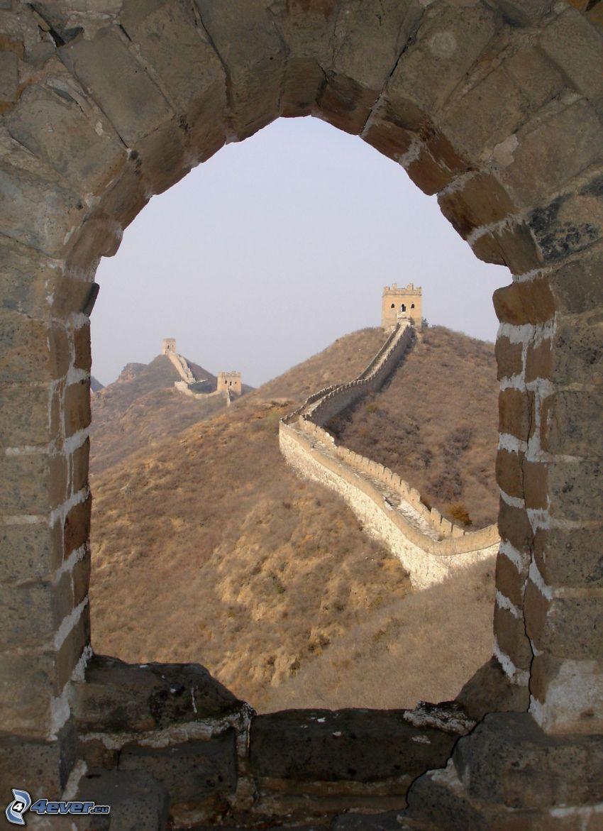 Wielki Mur Chiński, starożytne okno